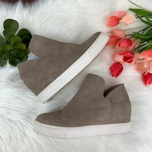 Steve Madden Wrangle Suede High Top Wedge Sneakers